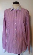 Banana Republic Blouse Shirt Button Down Tailored Stretch Pink Stripes Women's 6