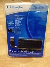 K33399EUA (33399EU) New Genuine Kensington PocketHub Mini USB, 4-Ports, Black