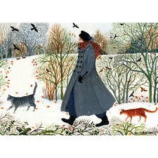 Another Walk In The Snow Fine art greeting Card Birthday Wedding Baby Gift