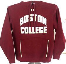 Under Armour Loose Hooded Sweatshirt Pull Over Boston College Eagles Maroon EUC