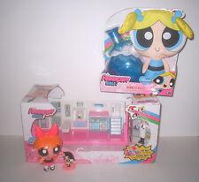 Powerpuff Girls Lot / Flip to Action Playset / Plush in Bottle