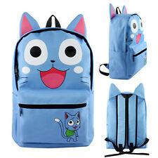 Anime FAIRY TAIL Happy Backpack Schoolbag Canvas Laptop Bag Zipper Knapsack Gift