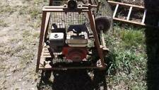 Honda petrol motor with re-duction box and pulleys on stand