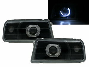 VITARA ET/TA 88-98 Guide LED Angel-Eye Projector Headlight Black for SUZUKI LHD