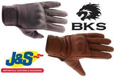 Gants noirs en cuir de vache pour motocyclette Homme