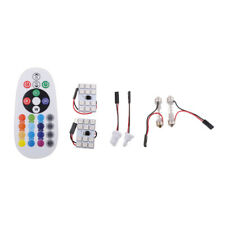 2x T10 Festoon 12Smd Rgb Led Car Dome Reading Light Lamp Bulb+Remote Control