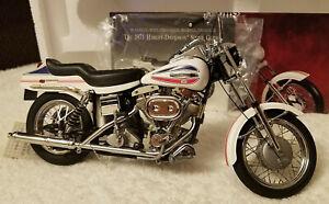 Franklin Mint 1971 Harley Davidson Super Glide Scale 1:10 (COMPLETE & EXCELLENT)