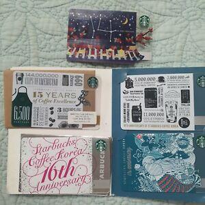 Starbucks korea 14- 18 st Anniversary Card  5card collection