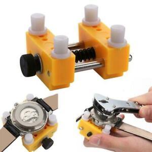 Yellow Holder Adjustable Watchmaker Repair Tool Watch Back Case Cover Opener UK