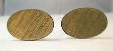 Design Cuff Links * Vintage Gold Tone Unique Etched