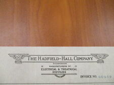 Vintage movie letterhead Hadfield-Hall company Theatre supplies Antigo 2-3-1911