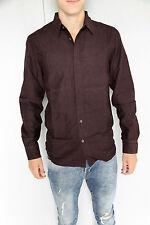 jolie chemise bordeaux M+F GIRBAUD plaquet  taille S NEUF/ÉTIQUETTE valeur 160€