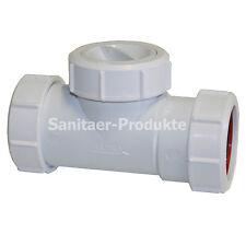 Rückschlagklappe Abwasser DN40 Rückstauverschluss Kunststoff Rückstauklappe