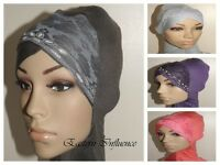 NEW HEAD CHEST NECK NINJA LACE UNDER HIJAB HAIR COVER BONNET BONE SLIP ON CAP