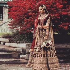 Ropa Fiesta Boda Bollywood Nuevo Indio Lehenga Étnico Vestido de Novia Lengha