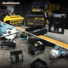 2x BATTERY MOUNTS for METABO 18v Li Storage Holder Shelf Rack Stand Slots Air