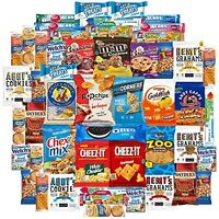 Cookies Chips & Candy Snacks Assortment Bulk Sampler (Care Package 50 Count)