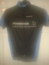Mens Cycling Jersey Shirt - Velotech - Black & Blue - Powerade - SIze S - BNWT