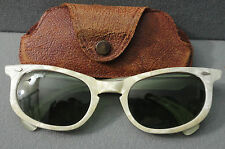 Vintage American Optical CALOBAR Mother of Pearl Cat Eye Sunglasses