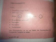 NVA/DDR Einsatzgarnitur B/A , Soldat , Gr. 4