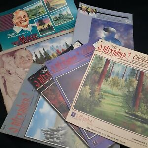Vintage art lot Alexander How to Paint Oil instruction painting pictures Magic