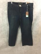 Sonoma womens jeans Size 22W NEW flare modern fit dark wash 46 x 32