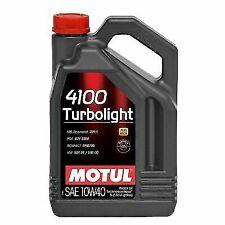 5 Lt HUILE MOTEUR Motul 10W40 4100 Turbolight + A3 B4 10W40 Olio Motore eu