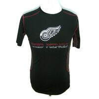 DETROIT RED WINGS Men's (Medium) Black Short Sleeve NHL Hockey T-Shirt Knights