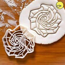 Origami Rose cookie cutter | art roses floral flower garden tea party biscuit