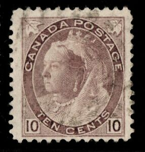 #83 Numeral 10c Canada used well centered