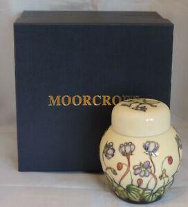 Moorcroft Hepatica Ginger Jar - 11.5cm tall