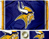 Minnesota Vikings Flag ~ Large Banner  3'X5' ~ NFL ~ FREE SHIPPING
