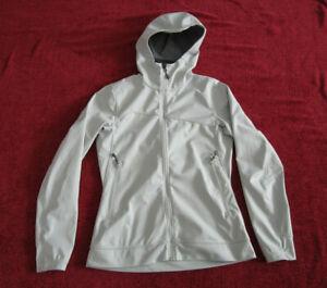 Black Diamond Equipment Off White Polartec Windbloc Jacket Shell w Hood Medium