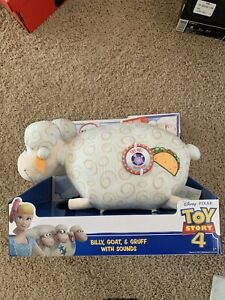 Toy Story 4 Billy Goat & Gruff Plush With Sounds Bo Peeps Sheep 2019 New Unboxed