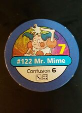 Pokemon Master Trainer Game #122 Mr. Mime Blue Pog Playing Chip Pog 1999
