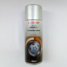 ALLOY WHEEL SILVER ACRYL ACRYLIC SPRAY PAINT 400ML REFURBISH RIMS CAR MOTO SPORT