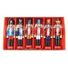 6pcs/set Wooden Nutcracker Soldier Gift Christmas Ornaments   Party Decor