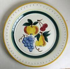 "Vtg Stangl Fruit 12"" Chop Serving Plate Platter Pear Cherry Plum Grape Excellent"