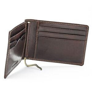 Tony Perotti Italian Leather Thin Bifold Money Clip Wallet