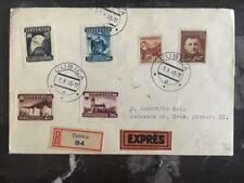 1943 Lubica Slovakia Registered Exss Cover to To Kezmarok Delivery Slip Affixed