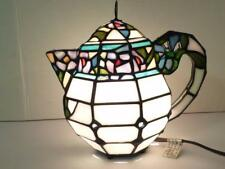 Tiffany Style / Shabby Chic Stained Glass Teapot Night Light Table Lamp