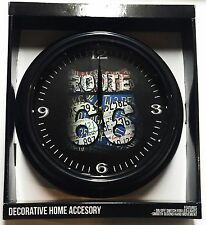 "Route 66 - 12"" Led Clock - Light Switch on Bottom Wall Garage"