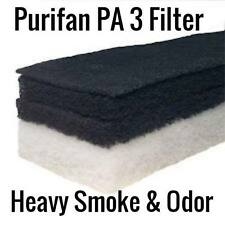 PURIFAN PA-3 HEAVY SMOKE & ODOR FILTER - TRIPLE CHARCOAL - HIGH PERFORMANCE