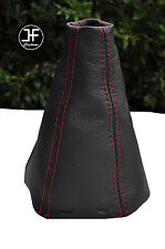 RED DOUBLE STTICH FITS SAAB SS 93 9-3 2003+ REAL LEATHER GEAR GAITER