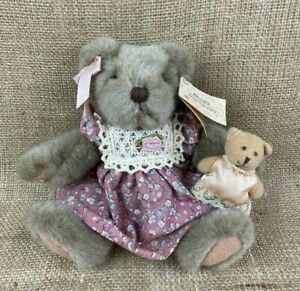 Russ Berrie Teddy Bears From the Past Mayfair Plush Little Girl with her Teddy B
