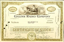 Collins Radio Stock Certificates - Bundle of 50pcs- Blue or Olive -Your choice!