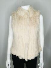 NWT $885 HAUTE HIPPIE Ivory Size Large Fur Sweater Vest Jacket