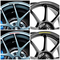8x RENAULT SPORT Rims Alloy Wheels Curved Decals Stickers Clio Megane Twingo ...
