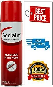 Acclaim Household Flea Spray, 500ml Aerosol New In UK Fast Delivery