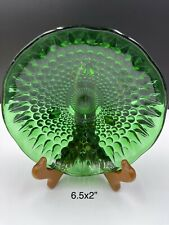 Emerald Green Anchor Hocking 3 Footed Candy Bowl Serving Bowl Candy Dish